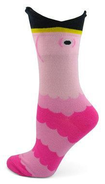 Wide Mouth Flamingo Socks
