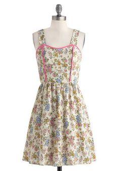 In-House Illustrator Dress, #ModCloth Pretty pattern!