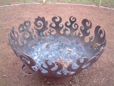 """<span class=""""caption_text"""">Fire Tribe Hawaii's gorgeous, custom fire bowl made from the end of a recycled propane tank.</span>"""