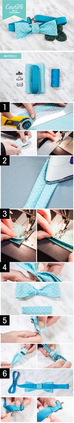PAS À PAS: Noeud papillon parfait pour toutes les occasions! #DIY #couture #sewing