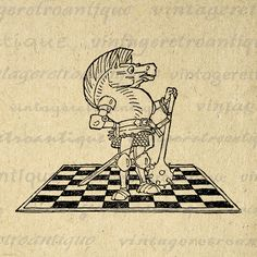 Digital Image Chess White Knight Alice in Wonderland Printable Download Graphic Antique Clip Art Jpg Png Eps 18x18 HQ 300dpi No.2477 @ vintageretroantique.etsy.com #DigitalArt #Printable #Art #VintageRetroAntique #Digital #Clipart #Download