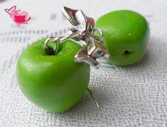 Fimo mini green apple