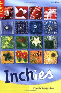 Inchies--wow a book on inchies and not in English…good pictures though :) HA Fabric Art, Fabric Crafts, Inchies, Crazy Patchwork, Fabric Journals, Button Art, Artist Trading Cards, Mini Quilts, Fabric Jewelry