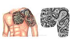 Scythian chest arm sleeve tattoo by thehoundofulster on DeviantArt