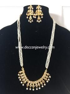Ready to ship necklace with earrings made using natural pearls and polki gold plated delivered in business days within USA days worldwide 7 11 Day, Gold Jewelry, Jewellery, Necklace Set, Going Out, Plating, Gems, Jewels, Inspired