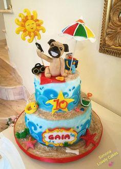 Carlino Cake My dog on the beach!
