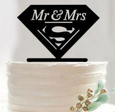 "Wedding Cake Topper (Comics Cartoon Movie Theme /Hero /Creative Funny) Material: Acrylic - Color: Black Approx. Size: - 5.3"" x 4.1"" (13.5cm x 10.5cm) - Style: Mr & Mrs, Cartoon /Comics /TV & Movie Cha"