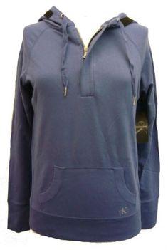 Calvin Klein Quarter Zip Pullover Hoodie Periwinkle Small $21.95