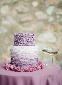 ruffle cake casamento rosa e lavanda