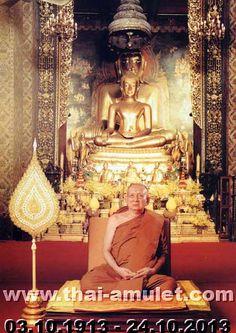 Seine Heiligkeit Somdej Phra Sangkarat (Somdej Phra Yanasangwon  Nyanasamvara Phra Somdej Sangkarat) war der 19. Supreme Patriarch von Thailand. Der Supreme Patriarch ist das Oberhaupt der Sangha und damit aller Mönche, Nonnen, Tempel und Gläubigen Thailands. Phra Somdej Sangkarat (สมเด็จพระญาณสังวร สมเด็จพระสังฆราช) verging am 24.10.2013 um 19:30 Uhr Ortszeit im Alter von 100 Jahren und 21 Tagen und nach 80 Phansa als Mönch im King Chulalogkorn Memorial Hospital (โรงพยาบาลจุฬาลงกรณ์)…