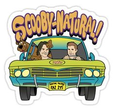 Supernatural Mystery Machine Sticker