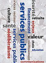 Services publics : perspectives  Il s'agit d'un outil de sensibilisation et de formation sur l'importance des services publics pour la société québécoise et sur la remise en cause à laquelle ils font face depuis plusieurs années. Il peut être utilisé dans le cadre de réflexions, de débats et de discussions sur les services publics, le néolibéralisme et le SISP.