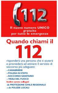 112 arriva il numero unico per le emergenze