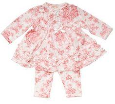 Baby Biscotti Victorian Rose Baby Dress  Legging