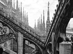 Skyline of spires from the Duomo Terraces: Milan by The Art of Creativity Studio