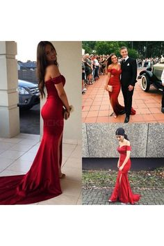 Mermaid Off-the-Shoulder Long Prom Formal Evening Party Dresses 3021192