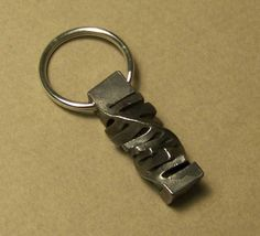 Cut Twist Key Chain by IronOakFarm on Etsy