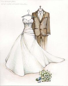 8b769e95c9d 55 Best Wedding Dress Sketches images