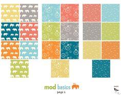 Birch MOD BASICS Abacus Shroom Grey Organic by LilMrSmartyPants, $16.50