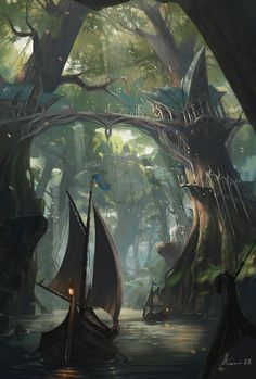 Forest Palace, Maxime BiBi on ArtStation at https://www.artstation.com/artwork/YJrRP                                                                                                                                                                                 More