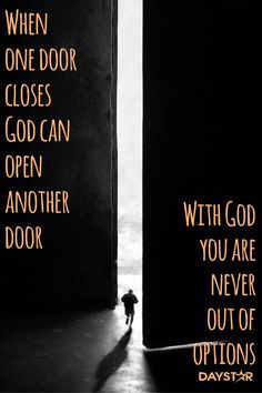 Until God opens another door, praise Him in the hallway! What's True Love, When One Door Closes, Bible Words, Spiritual Inspiration, Journal Inspiration, Daily Inspiration, God First, Jesus Is Lord, Quotes About God