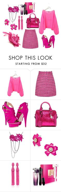 """""""New in"""" by sabiha-kahrimanovic ❤ liked on Polyvore featuring MSGM, Alexander McQueen, BaubleBar, Oscar de la Renta and Lancôme"""