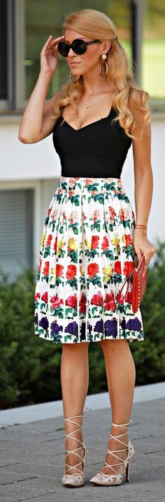 Floral Party Outfit Idea by Fashion Painted Dreams