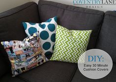 Coventry Lane Design: Easy 30 Minute Cushion Covers