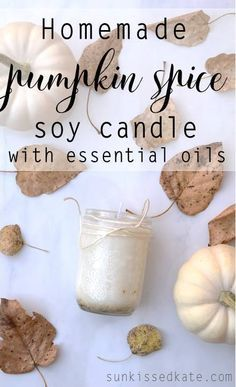 Homemade Pumpkin Spice Candle. One thing I really look forward to in the fall is getting my home fall ready. I like to put up a few decorations up, and I like to make my home smell like fall. An easy way to do this if you have essential oils is to diffuse a pretty fall blend. But if you're feeling crafty, candles are fun and easy to make!