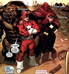 Red Guardian and the Soviet Super Soldiers Hq Marvel, Marvel Comic Universe, Marvel Funny, Marvel Dc Comics, Marvel Heroes, Marvel Cinematic Universe, Heroes Comic, Superhero Facts, Superhero Characters