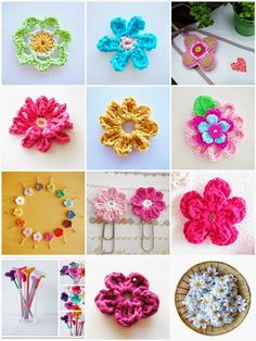 Free Crochet Flower E-book!