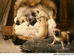 Eerelman Otto - 'A Nest of Puppy Pugs'