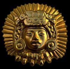 Inca gold | Inca gold finish sculpture