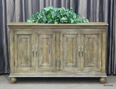 Very nice brand new sideboard buffet or entertainment center console with 4 doors, 1 interior shelf. #OnTheShowroomFloor #NEW #Sideboard #Entertainment #Console #StillGoode