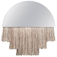 Half Moon Mirror | From a unique collection of antique and modern wall mirrors at https://www.1stdibs.com/furniture/mirrors/wall-mirrors/