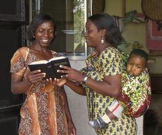 Women discussing the Bible
