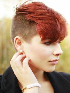 Undercut hairstyle women short hair
