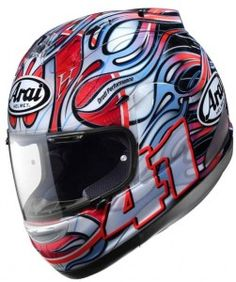 Arai Helmets VECTOR Chaser Side Pods Shield Covers Visor Holders DANI BLUE Parts