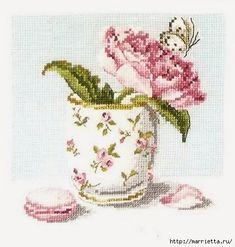 Превью Схема вышивки ПИОН с бабочкой в кружке (8) (453x476, 123Kb)