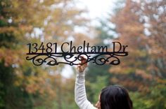 Custom Metal Address Sign House numbers house by GlamorousFindings, $67.00