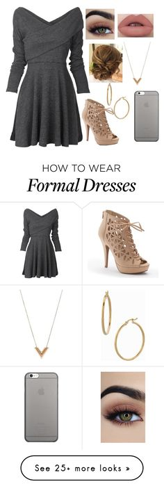 """""""Winter Formal"""" by girluntold on Polyvore featuring Apt. 9, Louis Vuitton, Bony Levy and Native Union"""
