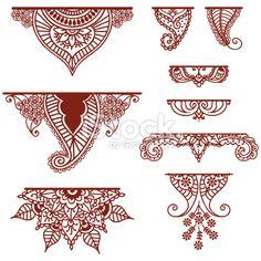 Mehndi Ornaments stock vector art 11113671 - iStock
