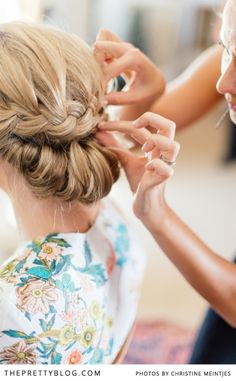 Gorgeous! #braid #chignon #bridal #updo