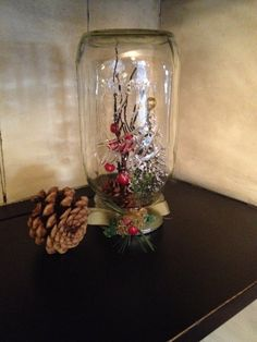 Your place to buy and sell all things handmade Christmas Jars, Country Christmas, Mason Jars, Glass Vase, Awesome, Handmade, Etsy, Home Decor, Hand Made