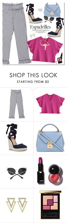 """""""Step into Summer: Espadrilles"""" by oshint ❤ liked on Polyvore featuring Nine West, Mark Cross and Yves Saint Laurent"""