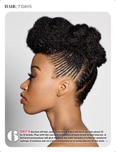 Natural Hair: 7 Days, 7 Styles ~ Essence magazine ~ September 2012  Day 6.