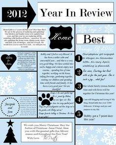 A YEAR IN REVIEW CHRISTMAS LETTER AND TEMPLATE - By - StoneGable