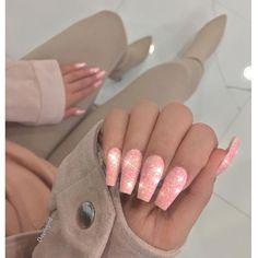 Peach Glitz ✨ for @s_hossine Glitter : @omgbeautysolutions @nailsbyleah