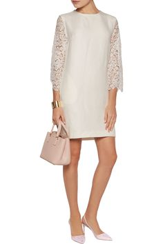 Shop on-sale Merchant Archive Swiss lace-paneled crepe dress. Browse other discount designer Dresses & more on The Most Fashionable Fashion Outlet, THE OUTNET.COM