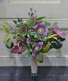 Beautiful hellebores for a spring wedding bouquet - or send seasonal #britishflowers on Valentine's